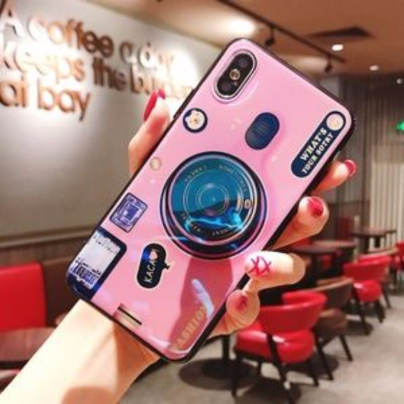 online store e5688 99074 I phone 7/8 Plus Camera phone case with Pop Socket